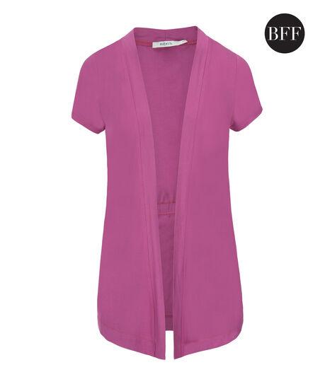 Short Sleeve Cover-Up, Mid Violet, hi-res