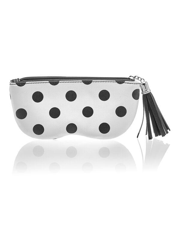 Polka Dot Sunglasses Case, White/Black, hi-res