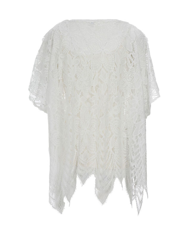 Scalloped Lace Cover-Up, Ivory, hi-res