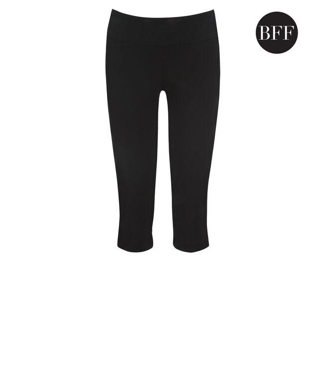 Microtwill Super Slim Leg Capri, Black, hi-res