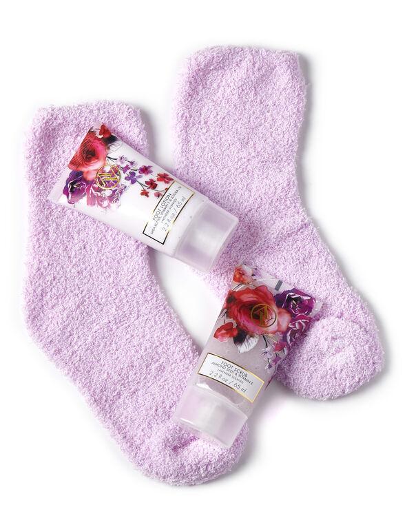 Purple Luxury Foot Care Set, Purple, hi-res