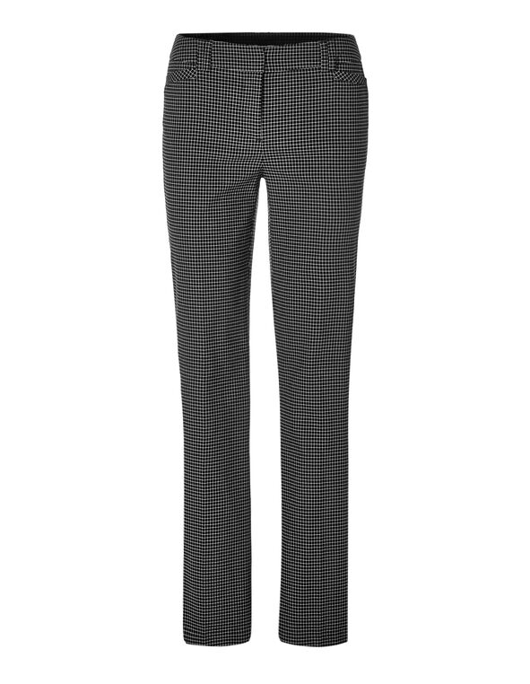 Windowpane Trouser Pant, Black/Ivory, hi-res