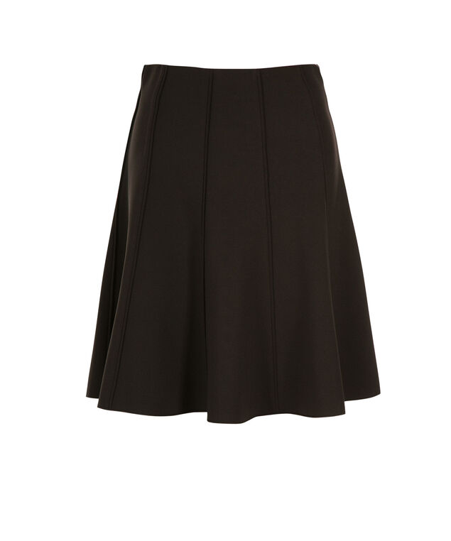 Scuba Piping Flip Skirt, Black, hi-res