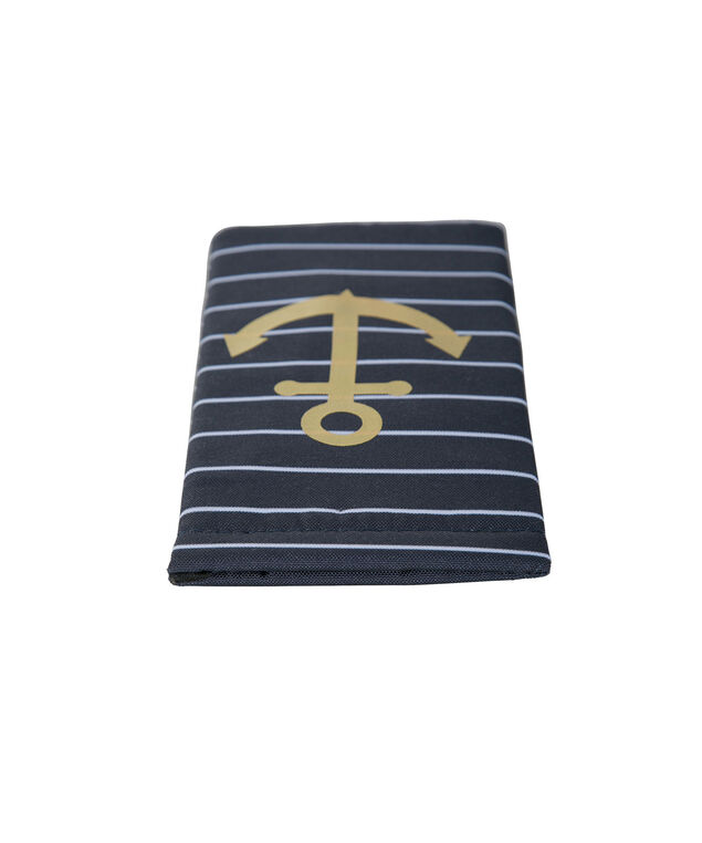 Anchor Sunglass Case, Gold/Navy, hi-res