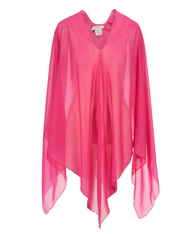 Pink Chiffon Cover-Up, Pink, hi-res