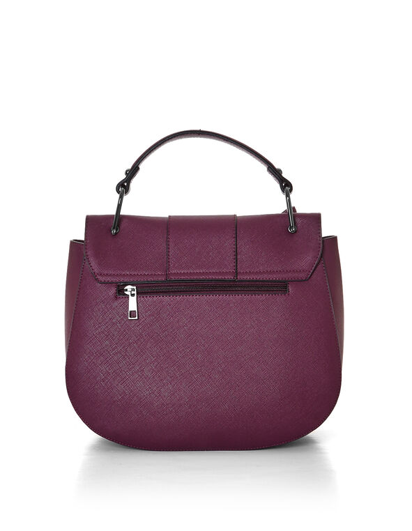 Claret Tassel Saddle Bag, Claret, hi-res