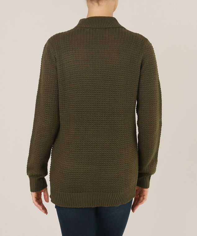 sweater with gigi neck - wb, CAPER, hi-res