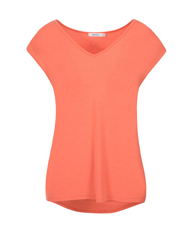 Extended Sleeve Tee, Soft Orange, hi-res