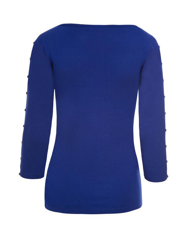 Button Cold Shoulder, Cobalt, hi-res