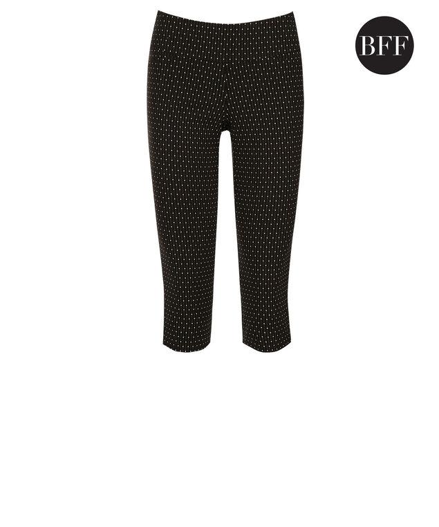 Microtwill Super Slim Leg Capri, Black/White Dot, hi-res