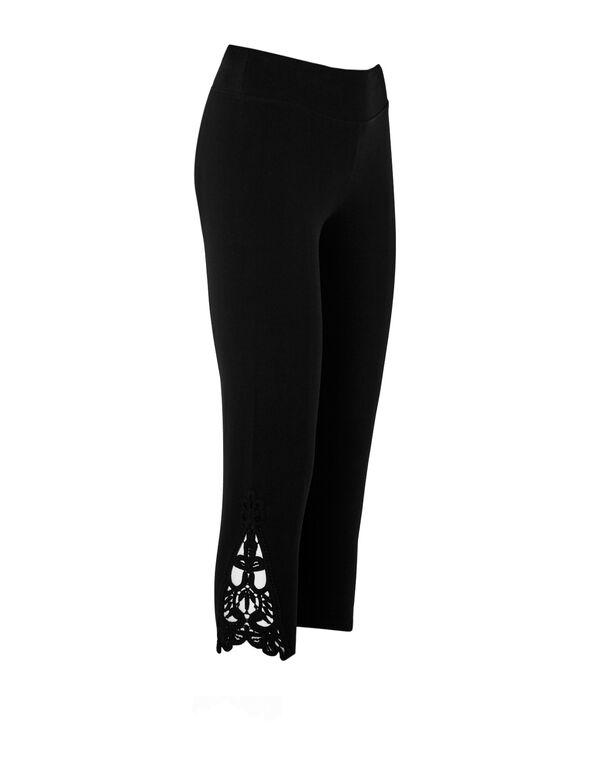 Black Lace Insert Legging, Black, hi-res