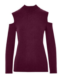 Claret Cold Shoulder Sweater