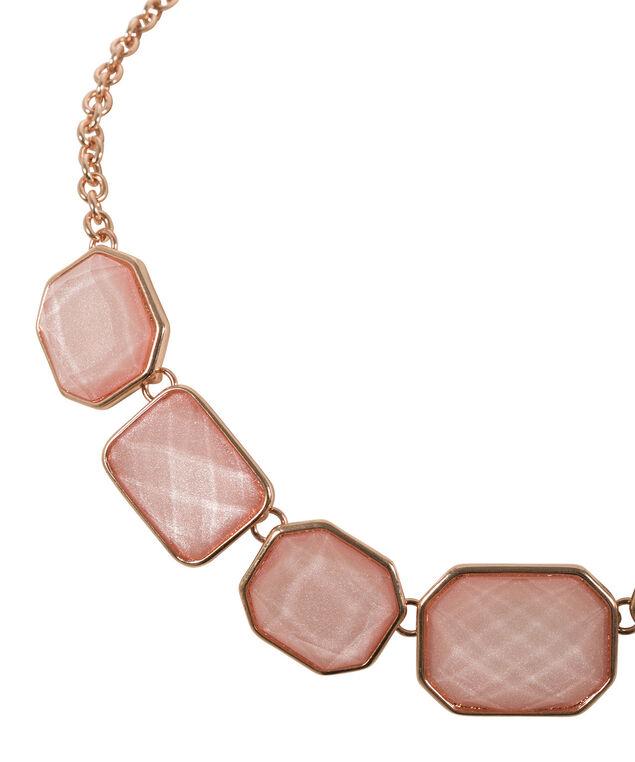 Glitter Stone Mini Statement Necklace, Pink Blush/Rose Gold, hi-res