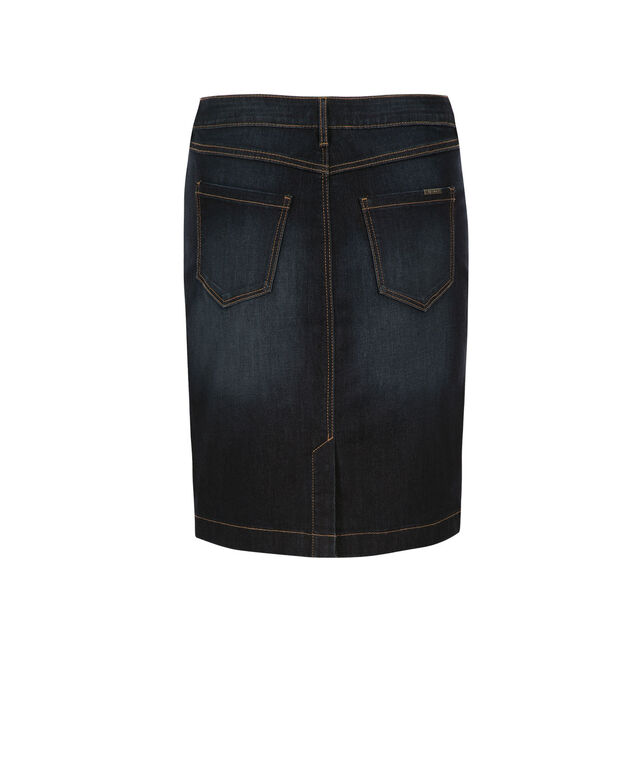 Button Front Denim Skirt, Denim, hi-res