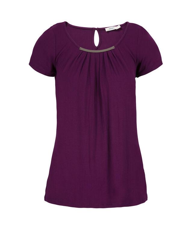 Short Sleeve Hardware Top, Ultra Purple, hi-res