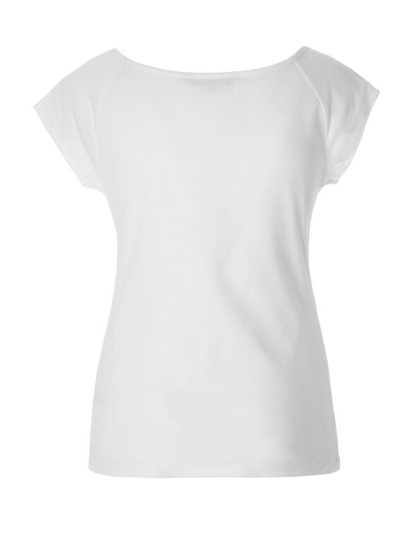 Solid White Tee, White, hi-res