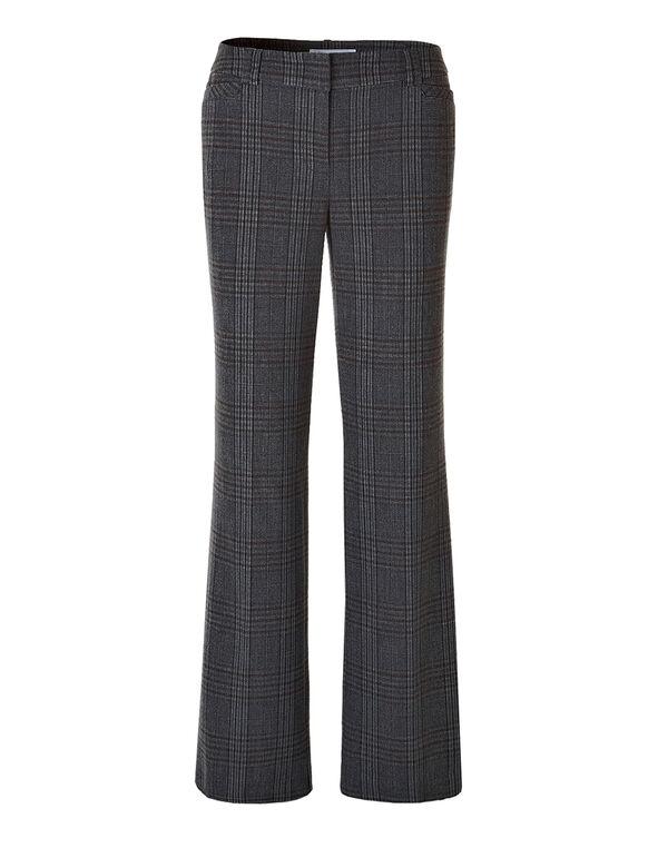 Every Body Plaid Wideleg Trouser Pant, Cinnamon/Grey, hi-res