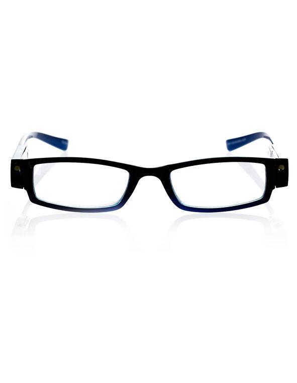 LED Blue Frame Reader, Blue/Black, hi-res