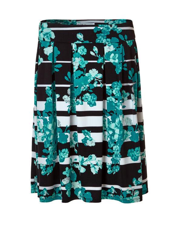 Rio Frio Floral Flippy Skirt, Rio Frio/Black/White/Mint, hi-res