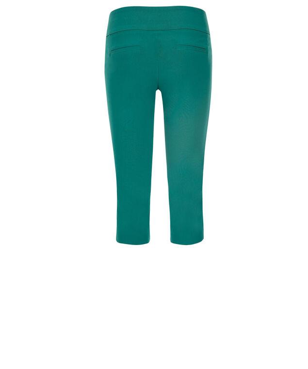 Microtwill Super Slim Leg Capri, Tropical Teal, hi-res