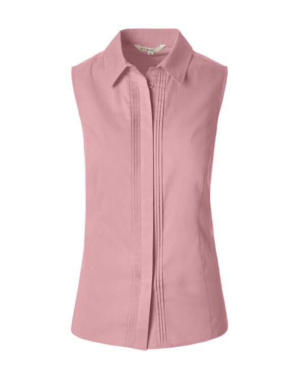 Peony Collared Button Blouse, Peony, hi-res