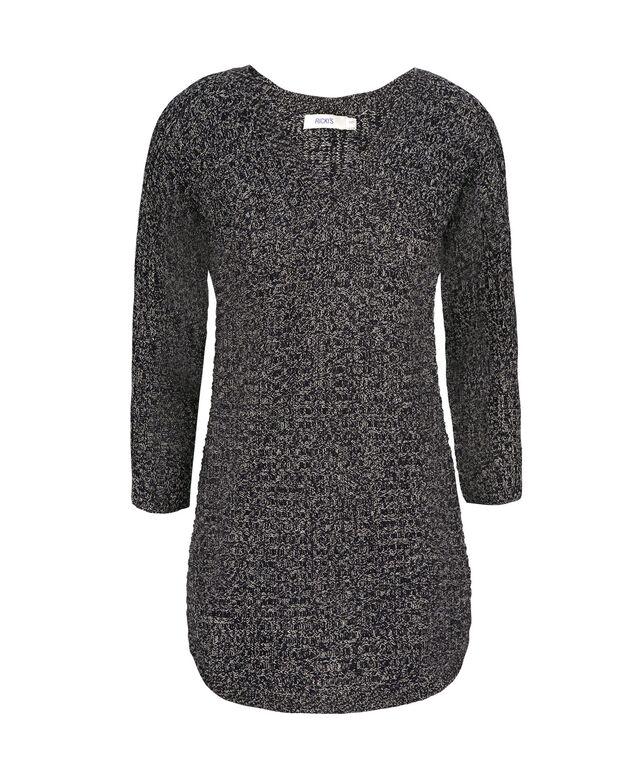 Ribbed V-Neck Sweater, Deep Sapphire, hi-res