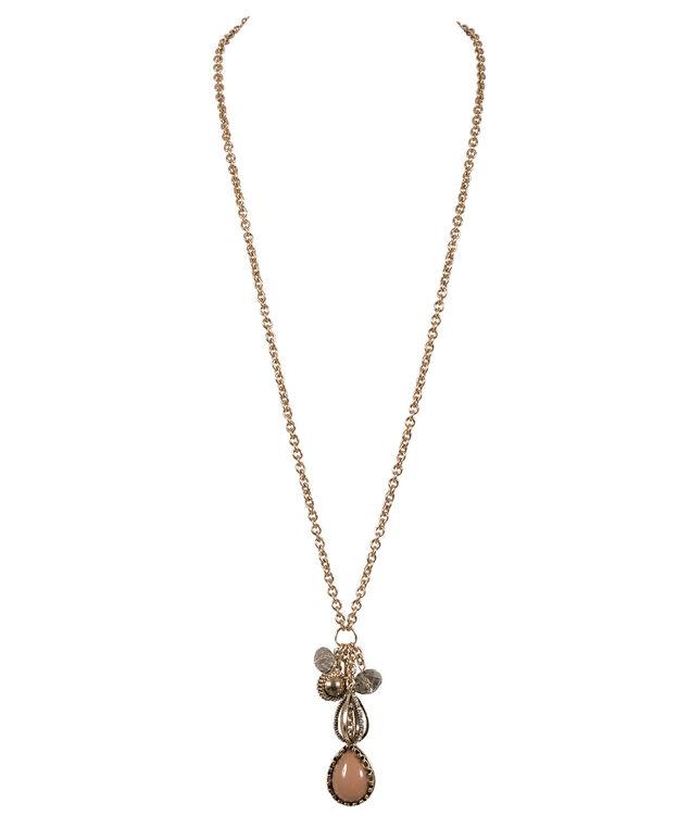Cluster Necklace, Antique Gold, hi-res