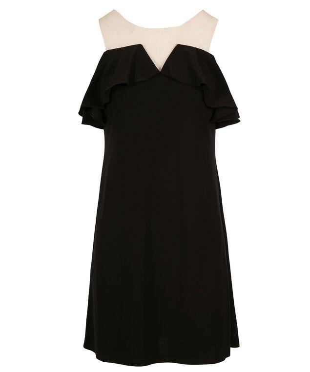 MSK Illusion Cold Shoulder Dress, Black, hi-res