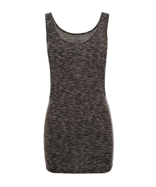 Tunic Length Cami, Space Dye Black, hi-res
