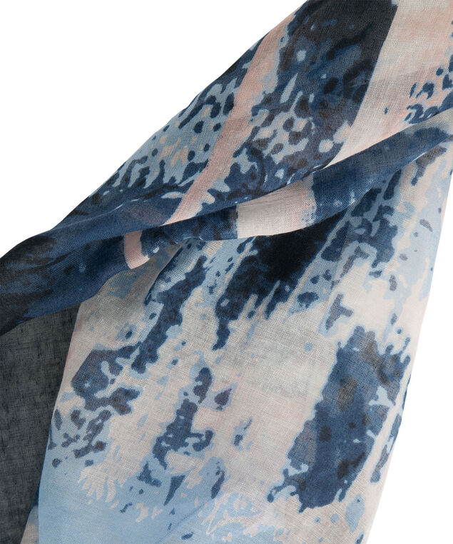 Painterly Print Scarf, Misty Blue/Misty Pink, hi-res