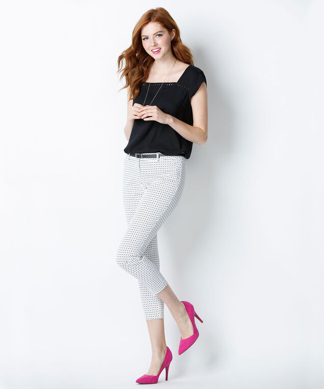 Sateen Crop, White/Black, hi-res
