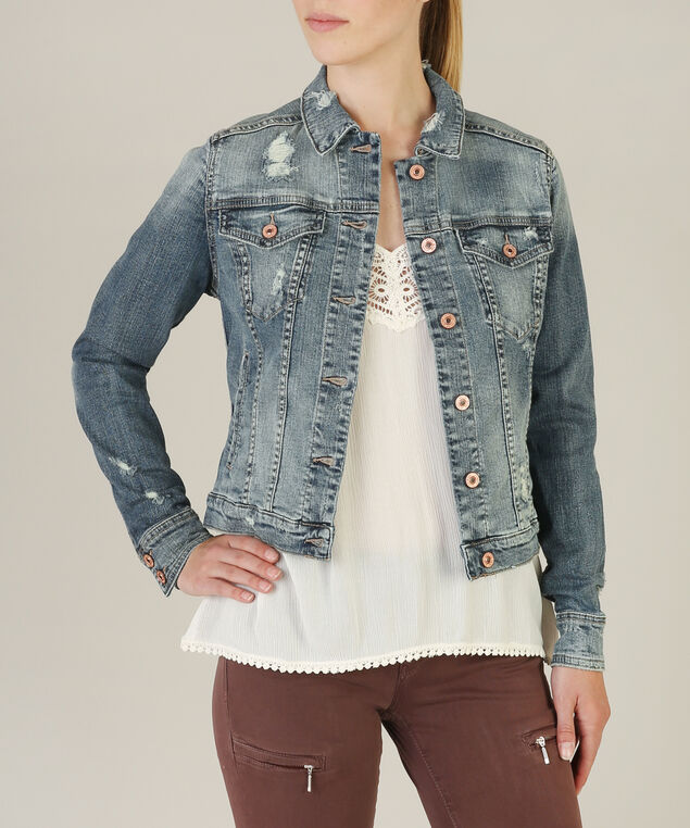 jean jacket sjl211 - wb, DARK STONE WASH, hi-res