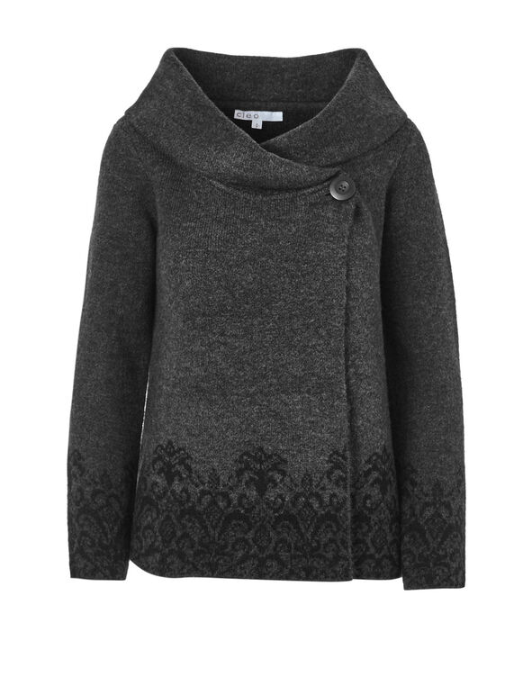 Charcoal Roll Neck Sweater, Charcoal, hi-res
