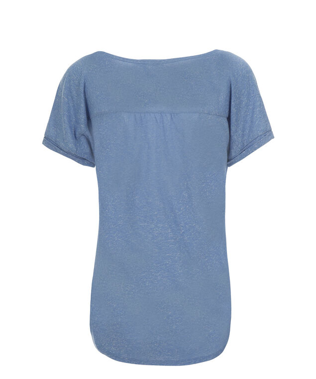 Tab Sleeve Tee, Teal, hi-res