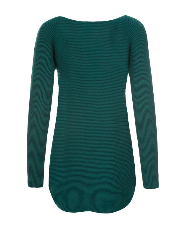 Ribbed Tunic, Turquoise, hi-res