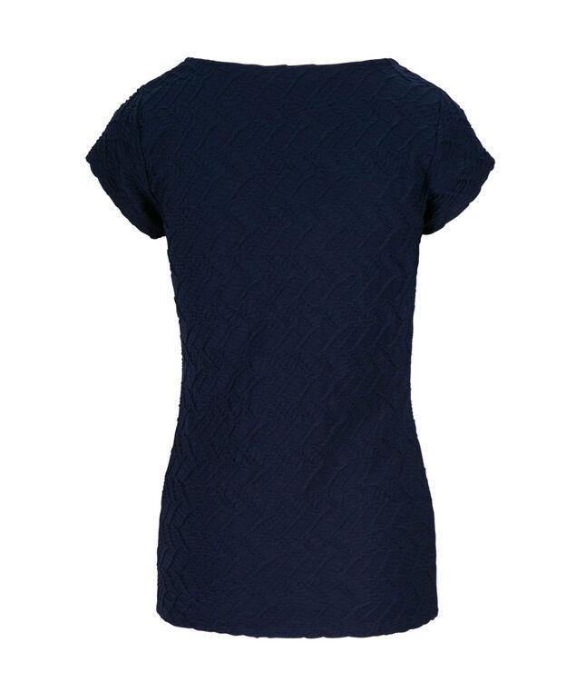 Textured Tee Shirt, Deep Sapphire, hi-res