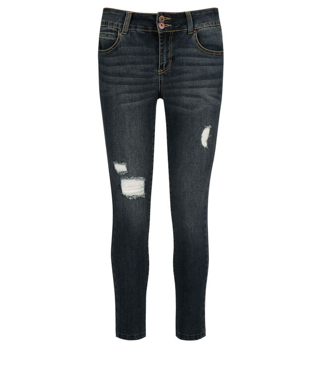 One5One Destruction Step Hem Jean, Denim, hi-res