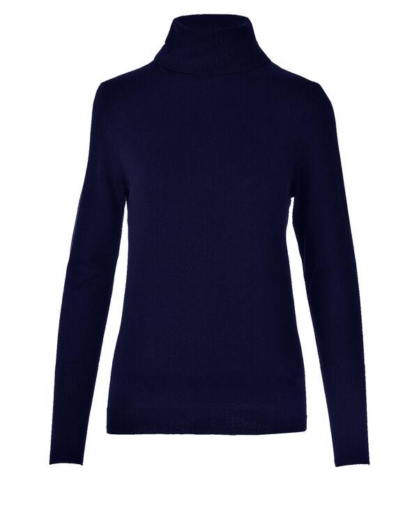 Navy Essential Turtleneck Sweater, Navy, hi-res