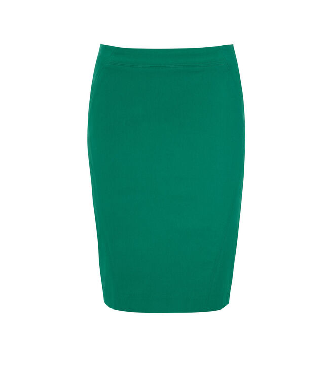 Pull On Pencil Skirt, Sea Green, hi-res