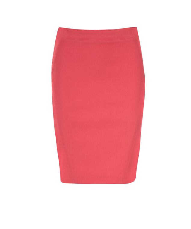 Pull On Pencil Skirt, Coral, hi-res