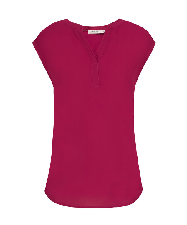 Henley Extended Sleeve, Mid Pink, hi-res
