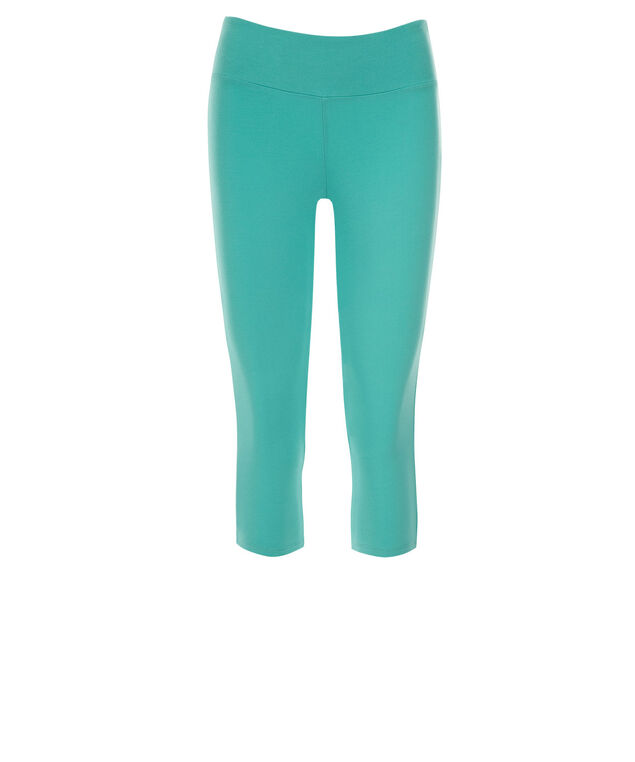 Knit Capri Legging, Aqua, hi-res