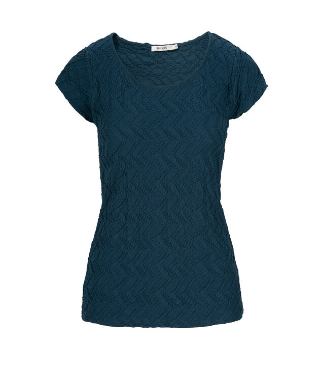 Textured Tee Shirt, Deep Teal, hi-res