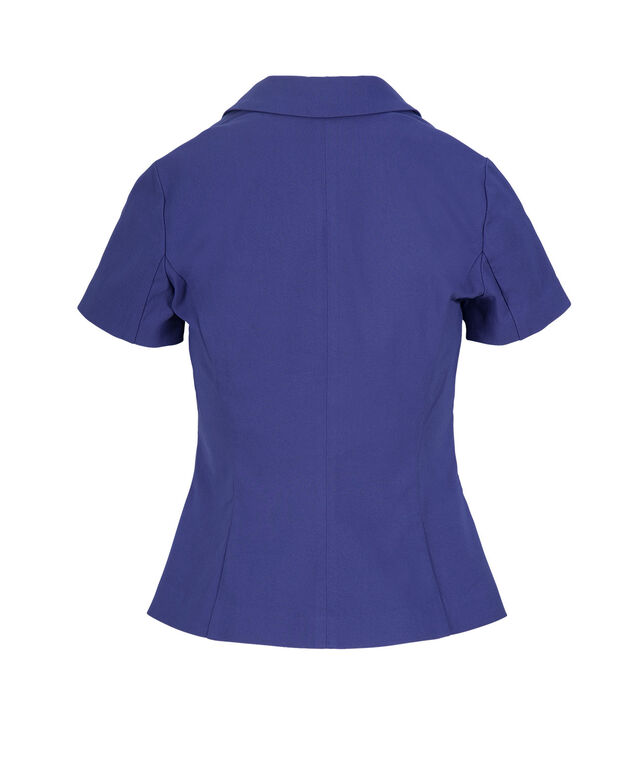 Short Sleeve Blazer, Sapphire, hi-res