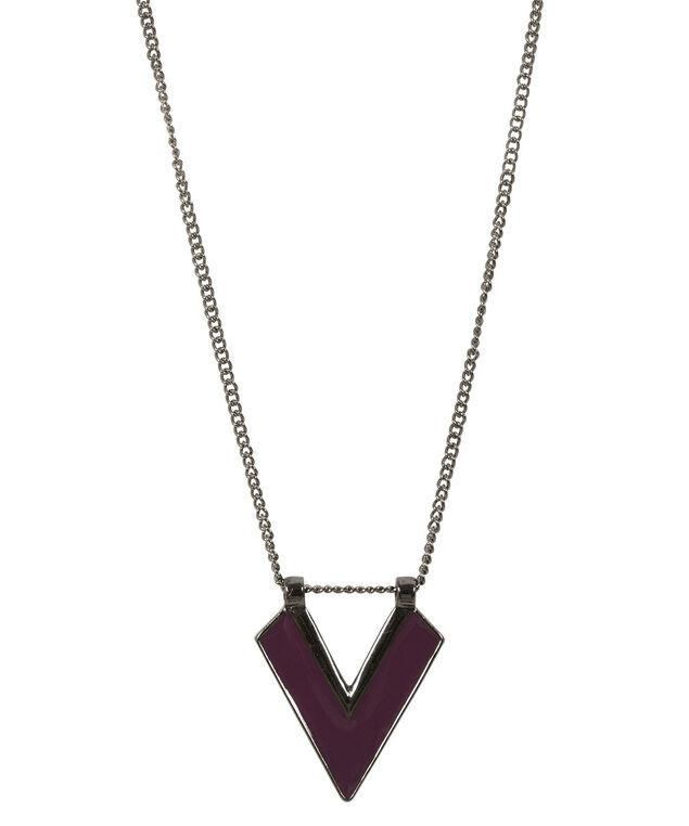 Arrow Pendant Necklace, Wineberry/Hematite, hi-res