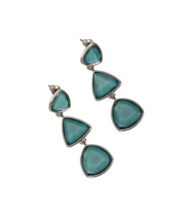 Glitter Stone Drop Earring, Tropical Teal/Rhodium, hi-res