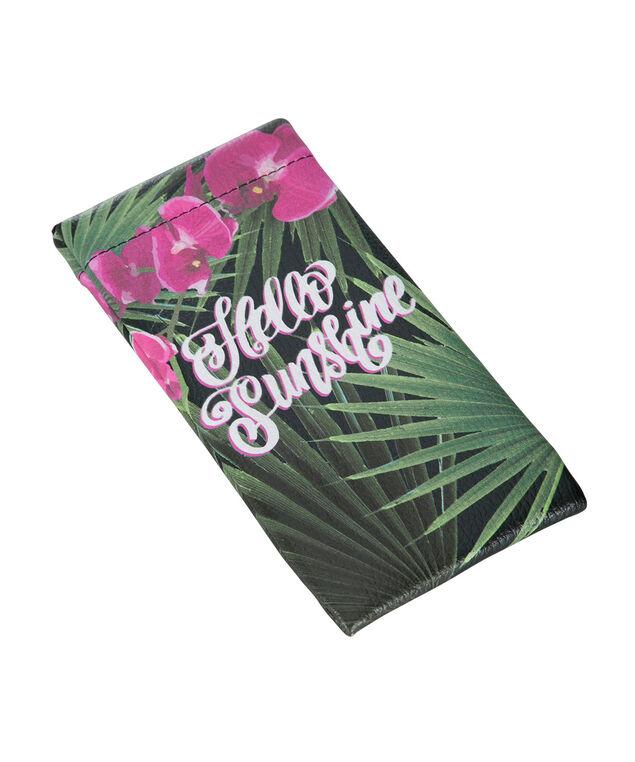 Hello Sunshine Sunglass Case, Green/Pink, hi-res