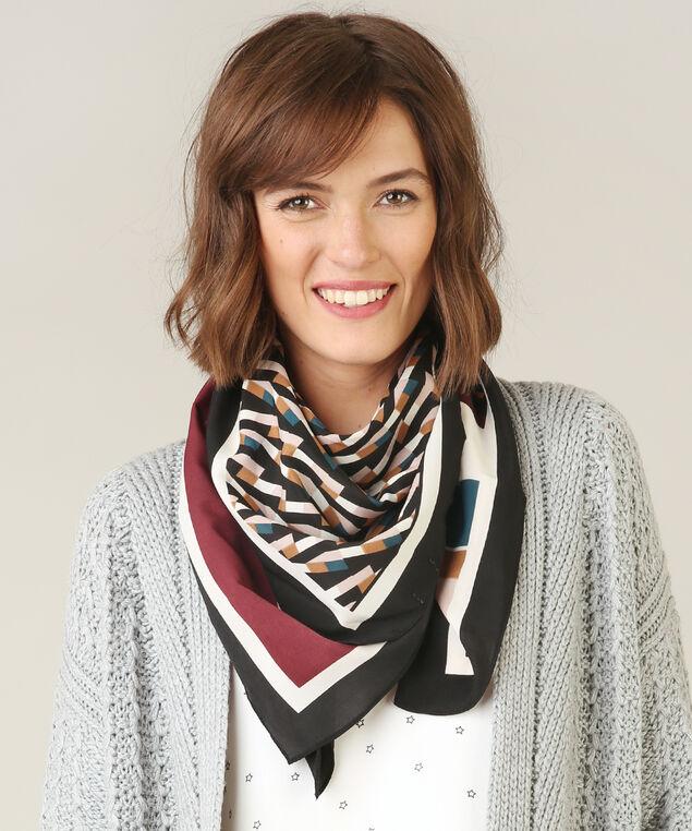 jewel tone print scarf, JEWEL TONES, hi-res