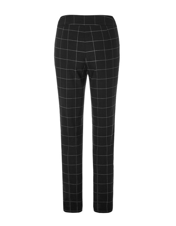 Windowpane Signature Slim Leg Pant, Black/Grey, hi-res