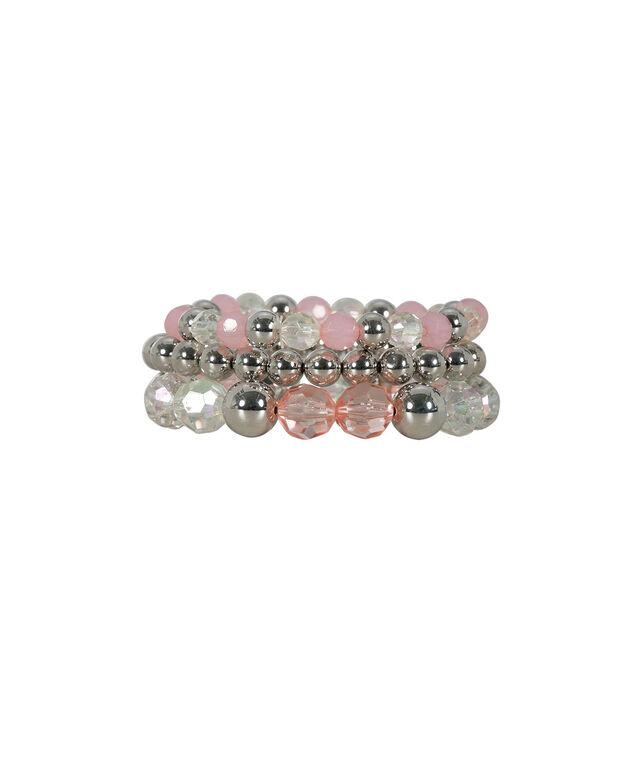 Faceted Stone Stretch Bracelet Set, Soft Pink/Rhodium, hi-res